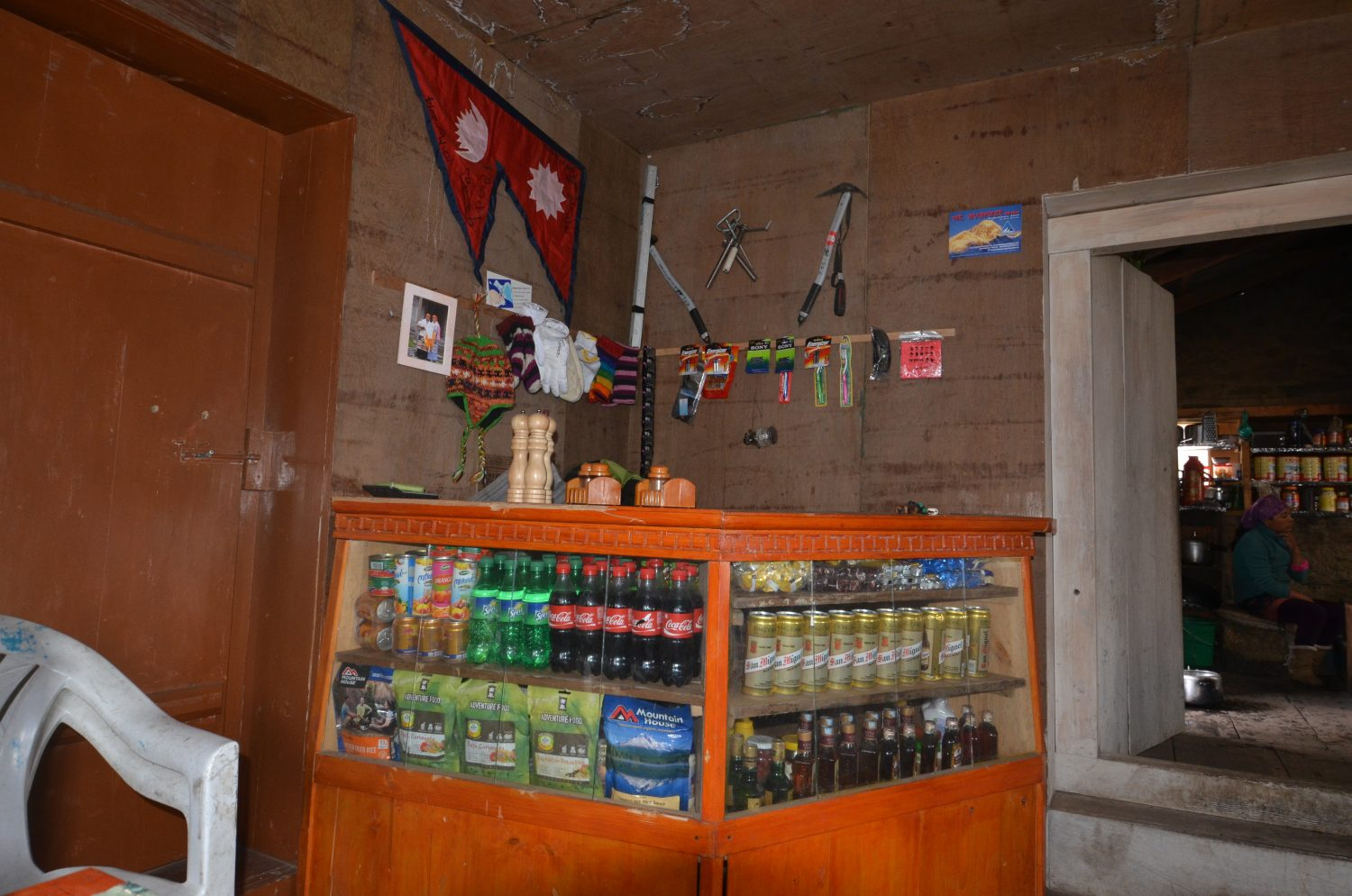 Small teahouse shop on Rolwaling Trek